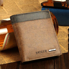 купить 2019 new student wallet, leather special wallet, men's wallet, mini multi-function card package, quality assurance по цене 258.7 рублей