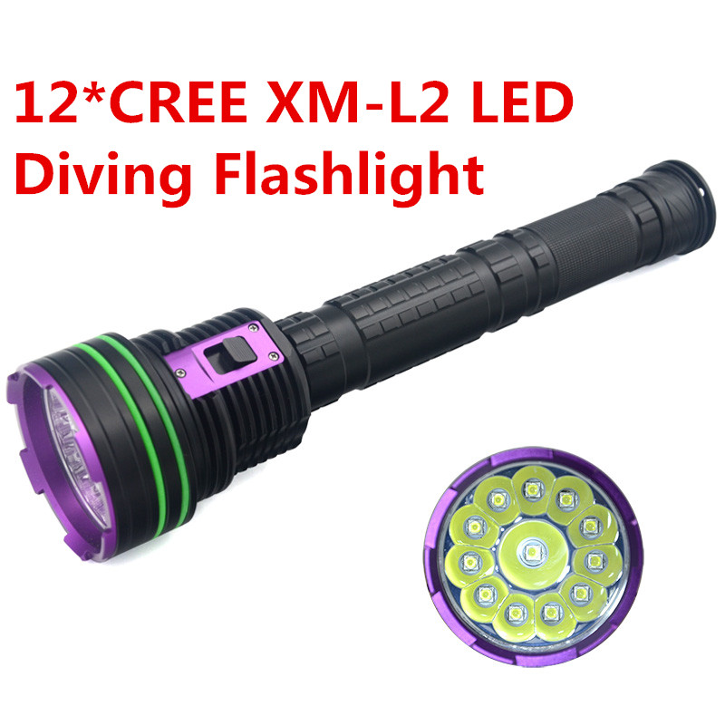 2017 NEW Diver Scuba flashlights LED Diving Flashlight Torch underwater light CREE XM-L2 Lamp  For Diving 100m underwater flashlight diving led scuba flashlights light torch diver cree xm l2 use 18650 or 26650 rechargeable batteries