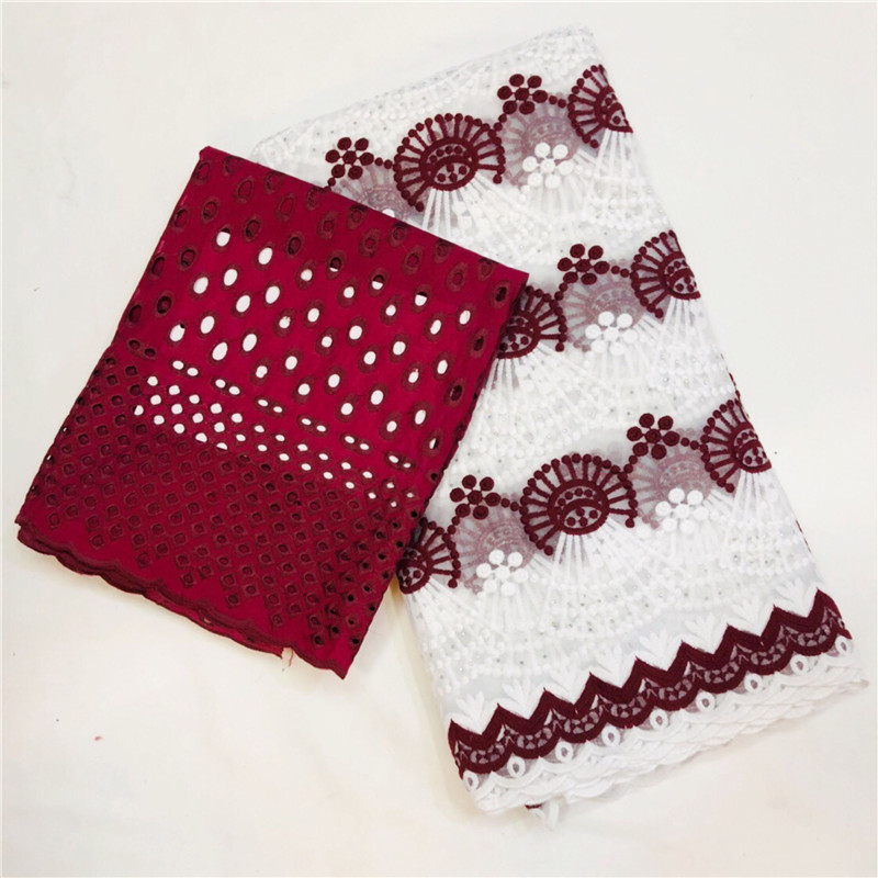 Beautifical African Lace fabric 2018 Swiss Cotton Dry Milk silk lace High Quality Swiss Lace Material