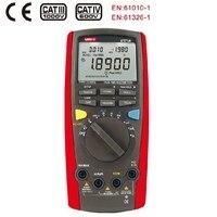 Интеллектуальный TRMS Цифровой мультиметр UNI T UT71A AC DC Вольтметр Амперметр пиковых Аналоговый гистограмма тестер Температура Кепки метр
