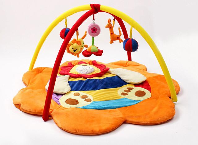 Lindo Leão! 95*95*50 cm! Brinquedo do bebê Esteira do Jogo Atividade Gymini Playmat Ginásio Jogue Playmats Colorido Torção e Dobra com 5 Brinquedos