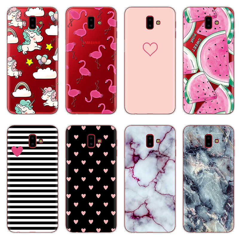 dde4246e3b0 Phone Cases For Samsung Galaxy J6 Plus Case Cartoon Soft Silicon TPU Fundas  Cover For Samsung