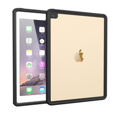 TPU Full Body Waterproof Case for iPad Pro/iPad Ari 2 9.7 inch Shockproof Dustproof Anti-scratch Cover Black