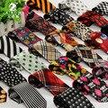 Бесплатная доставка шеи галстук для детей ребенка полосатый / / череп / животных / / мультфильм шаблон для ну вечеринку галстук тонкий свободного покроя 19 цветов