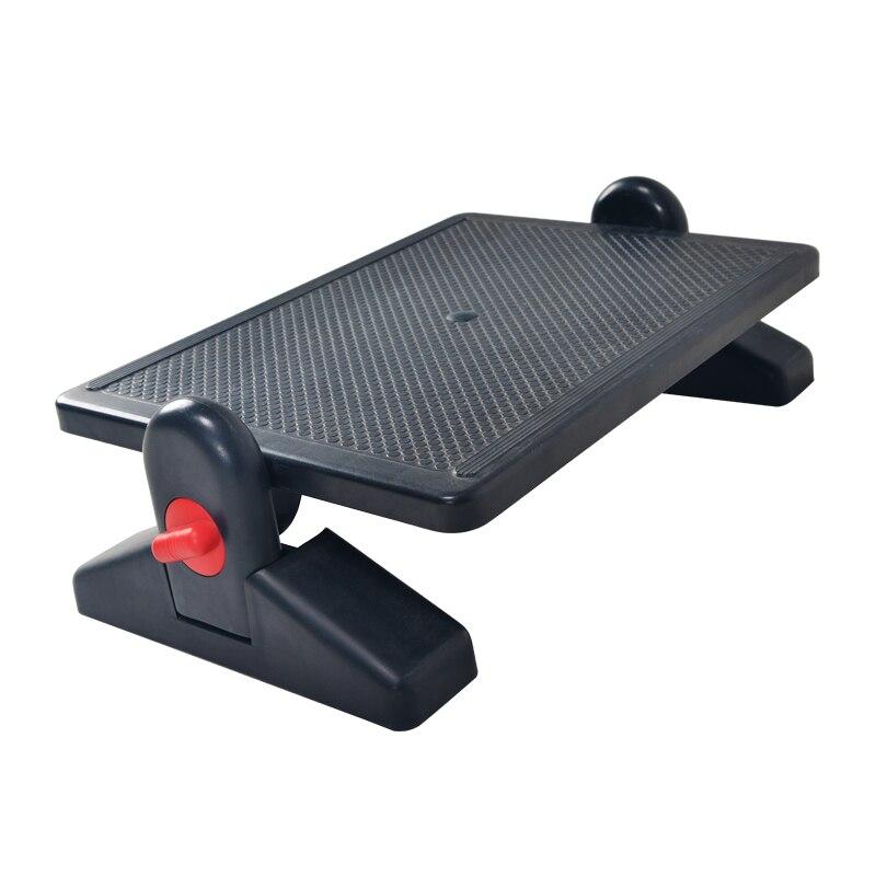 Repose-pieds ergonomique réglable en Angle et en hauteur repose-pieds de bureau tabouret pour sous le Support de bureau réglage en hauteur à 2 niveaux noir