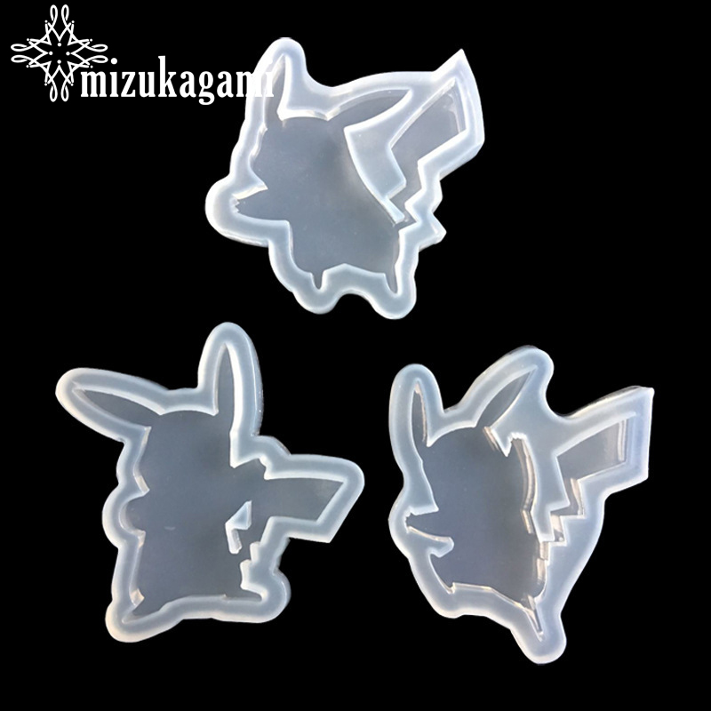 1pcs UV Resin Jewelry Liquid Silicone Mold Cute Cartoon Pikachu Resin Charm Molds For DIY Intersperse Decorate Making Toys Molds