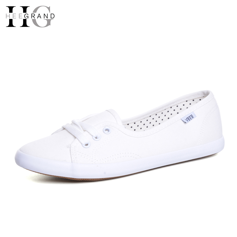 HEE GRAND Casual Flat Women Work Vulcanized Shoes Summer Lace-up Solid Espadrilles Loafers Creepers Femininos Mujer XWD3417