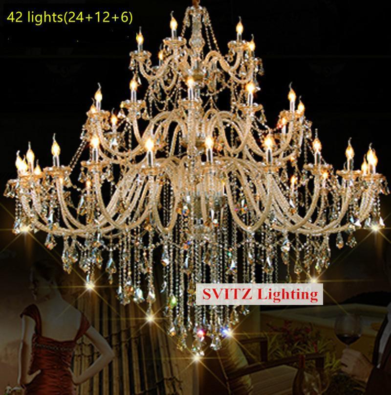 Bohemian 32-42 stk Cognac lysekrone krystalbelysning til kirke - Indendørs belysning - Foto 5