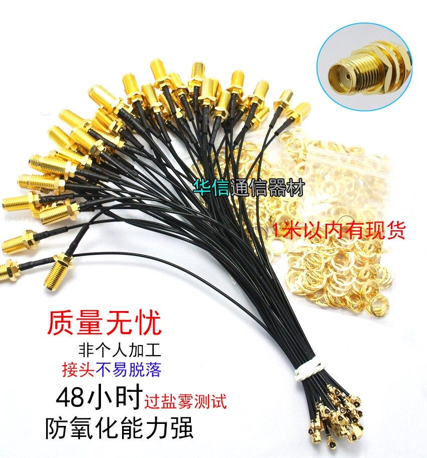 5CM 10cm 20CM 30CM 50CM 1M  UFL SMA Pigtail RF-SMA Female Antenna RG1.13 IPEX To RP-SMA Extend Cable Transfer Line
