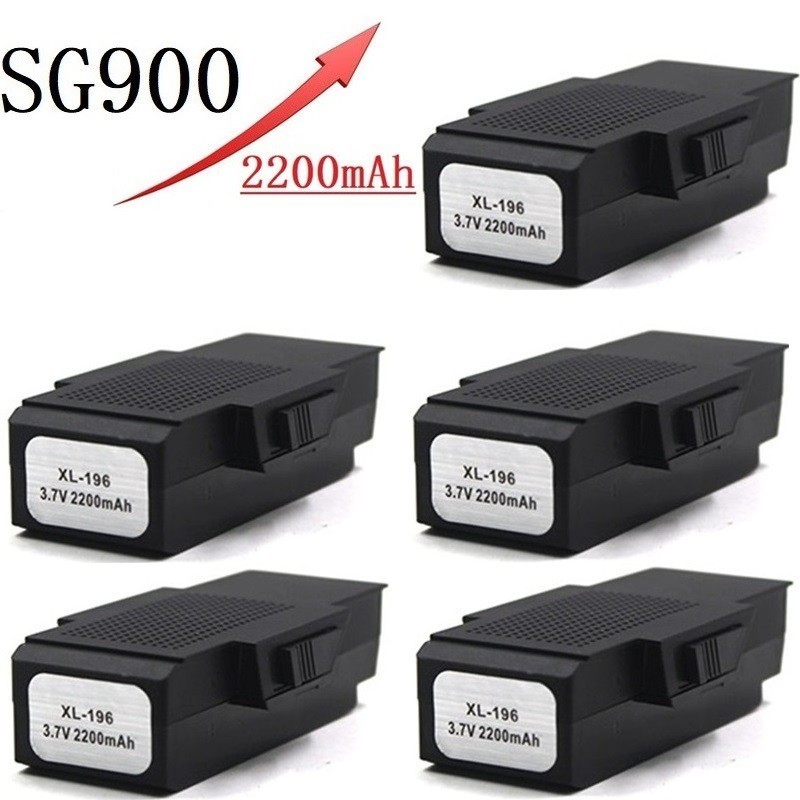 Upgrade 2200mAh 3.7V Lipo Battery For SG900 <font><b>F196</b></font> X196 X192 RC Helicopter Quadcopter Spare Parts SG-900 3.7v Drone Battery 5pcs image