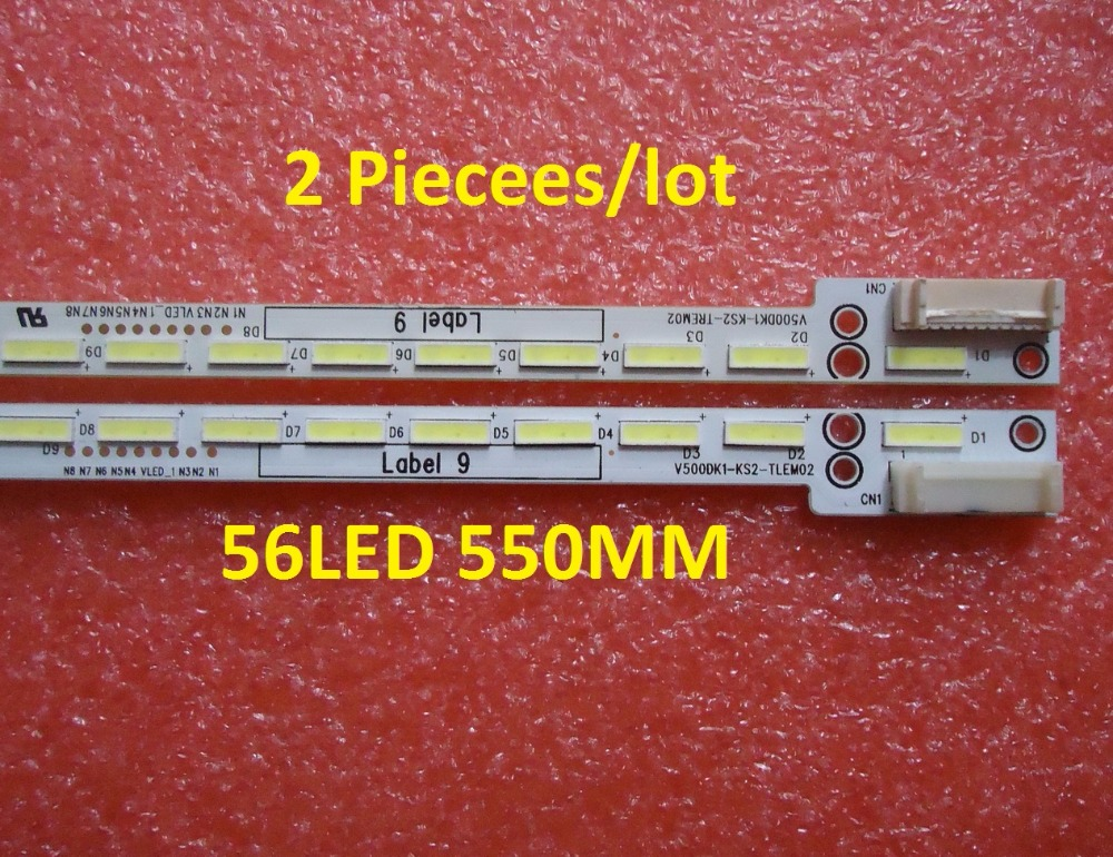 2 Piecees/lot LED Strip V500DK1-KS2-TREM02 E117098 56LED 550MM
