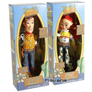 Talking Woody The Sheriff / Jessie The Yodeling Cowgirl PVC Action Figure Collectible Toy Doll(China)