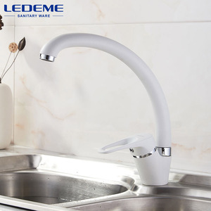 Image 5 - LEDEME Kitchen Faucet Bend Pipe 360 Degree Rotation with Water Purification Features Spray Paint Chrome Single Handle L5913
