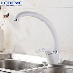 Image 5 - LEDEME Tubo de flexión para grifo de cocina, rotación de 360 grados con funciones de purificación de agua, pintura en aerosol cromada, mango único L5913