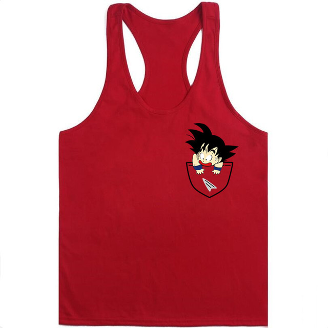 Dragon Ball Tank tops Men Summer Dragon Ball Z super son goku Slim Fit Cosplay 3D Tank vest vegeta tops Homme