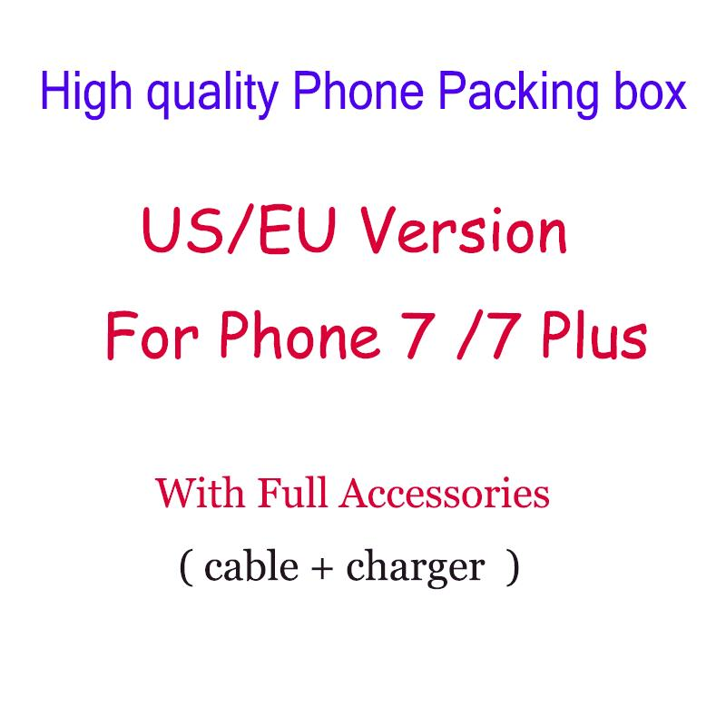 High Quality US/EU Version Phone Packing Packaging Box With Full Accessories For iPhone 7/ 7 plus DHL Free Ship 50pcs/lot-in Phone Accessory Bundles & Sets from Cellphones & Telecommunications