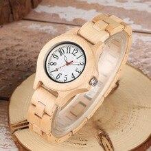 Simple Bamboo Fashion Full Wood Watch Quartz Sport Natural Handmade Lightweight Ladies Wristwatch Arabic Numbers Reloj Mujer