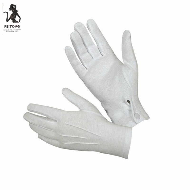 ホワイトフォーマルグローブタクティカルミトンタキシード名誉手袋ガードパレードサンタ男性検査フル指暖かい冬 # YL