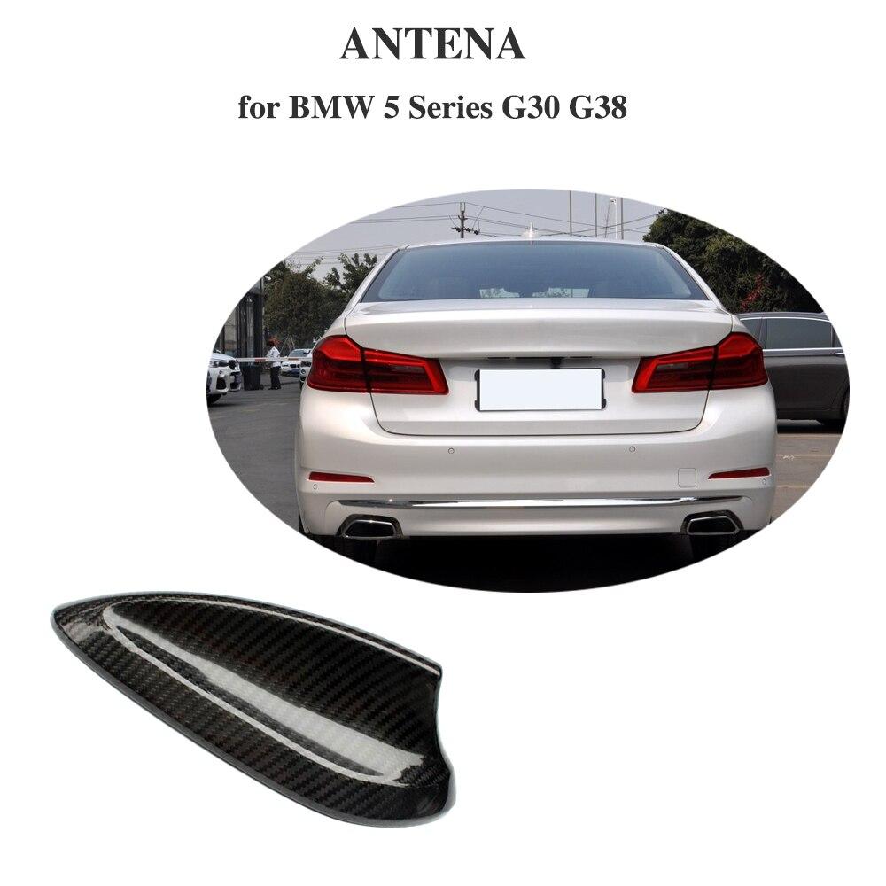 Pour BMW 5 Série G30 G38 F90 M5 520i 530i 540i fibre de Carbone De Voiture antenne de toit Antennes autocollants Aileron de Requin Garnitures voiture-Style