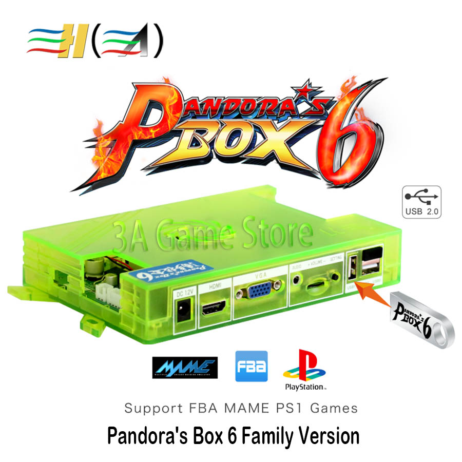 Pandora Box 6 1300 in 1 Pandora s Box Console Motherboard Family Version support 3d game