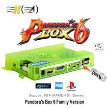 Pandora Boîte 6 1300 dans 1 Pandora Boîte de Console Carte Mère Famille Version soutien 3d jeu peut ajouter 3000 jeux FBA MAME PS1 jeu
