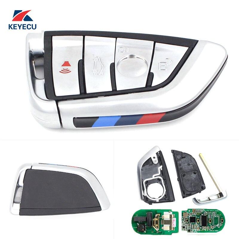 KEYECU Replacement Remote Car Key Fob 4 Button 434MHz For BMW X5 X6 2014-2016 FCC ID:NBGIDGNG1,Silver