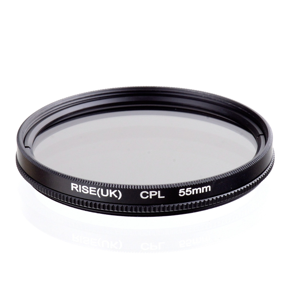 RISE(UK) 55mm Circular Polarizing CPL C-PL Filter Lens 55mm For Canon NIKON Sony Olympus Camera free shipping marumi mc c pl 55mm
