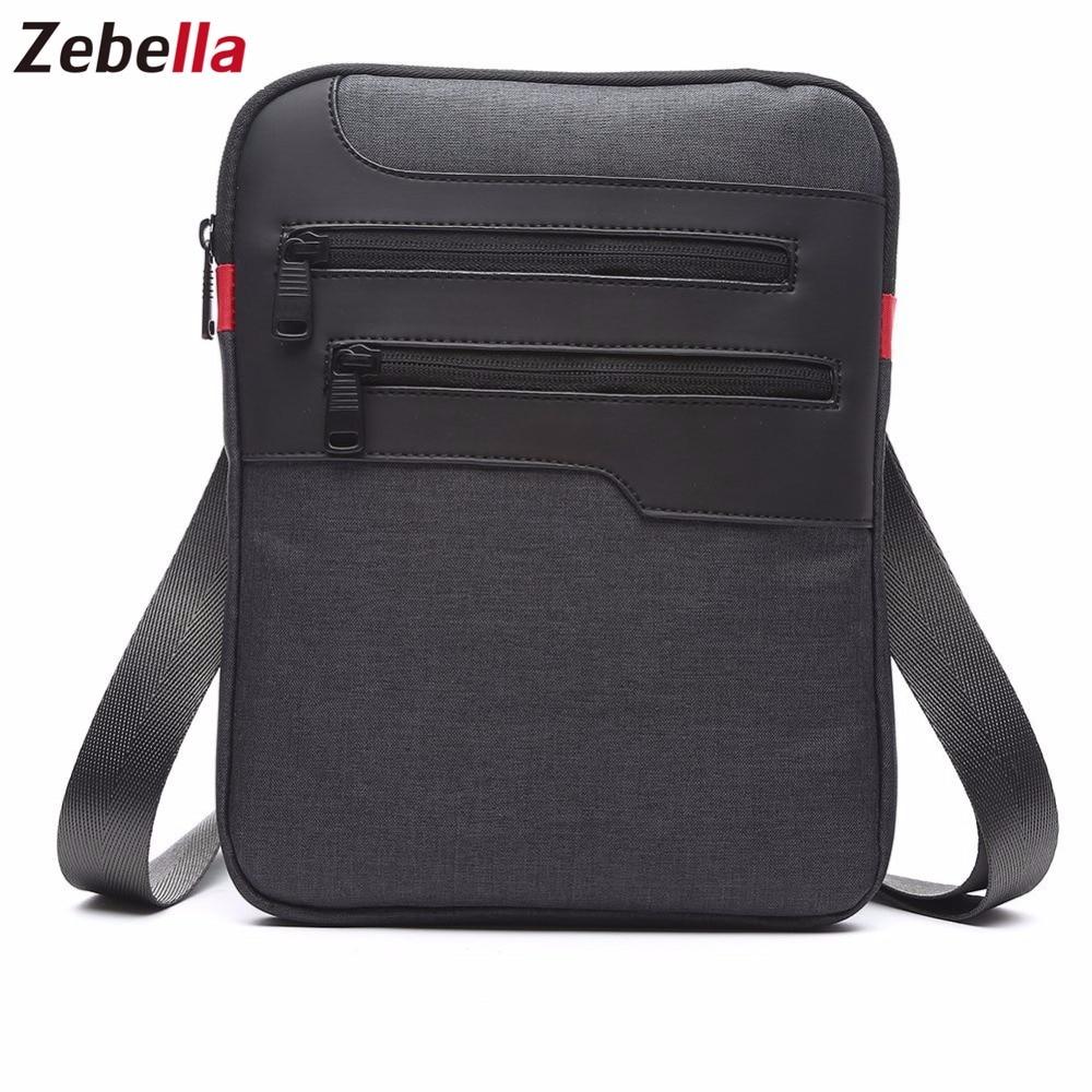Zebella Casual Mens Messenger Shoulder Bag para iPad Satchel Nylon - Bolsos - foto 4