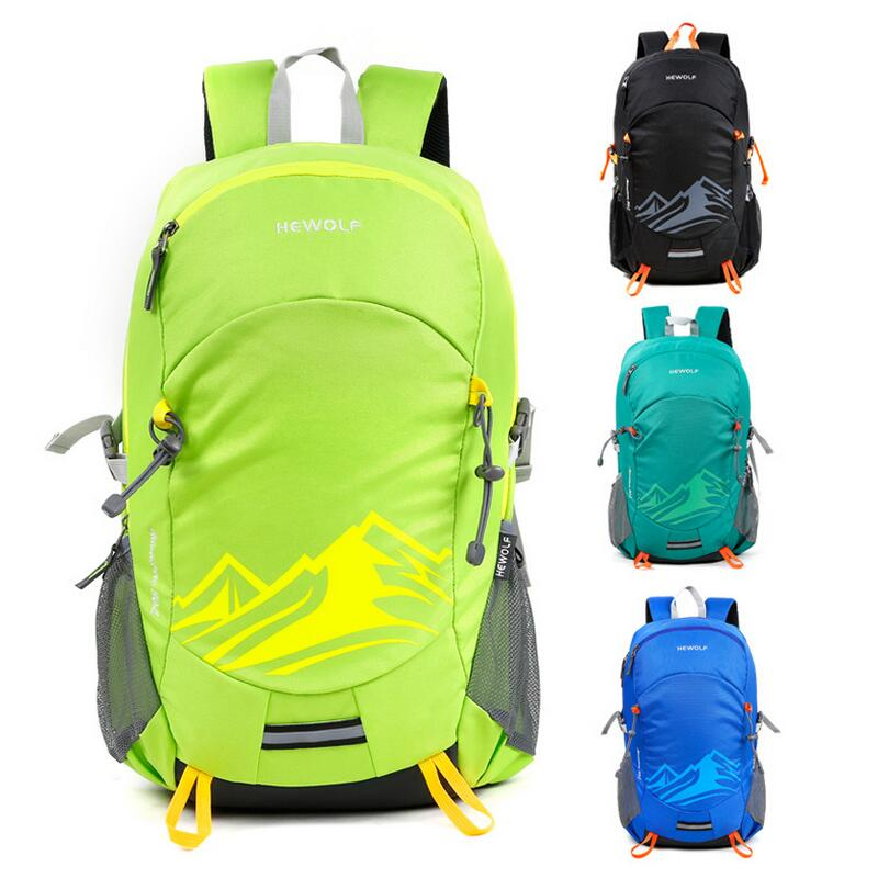 Hewolf Outdoor travel mountaineering bag rucksack men and women sports bag bike 30L backpack schoolbag