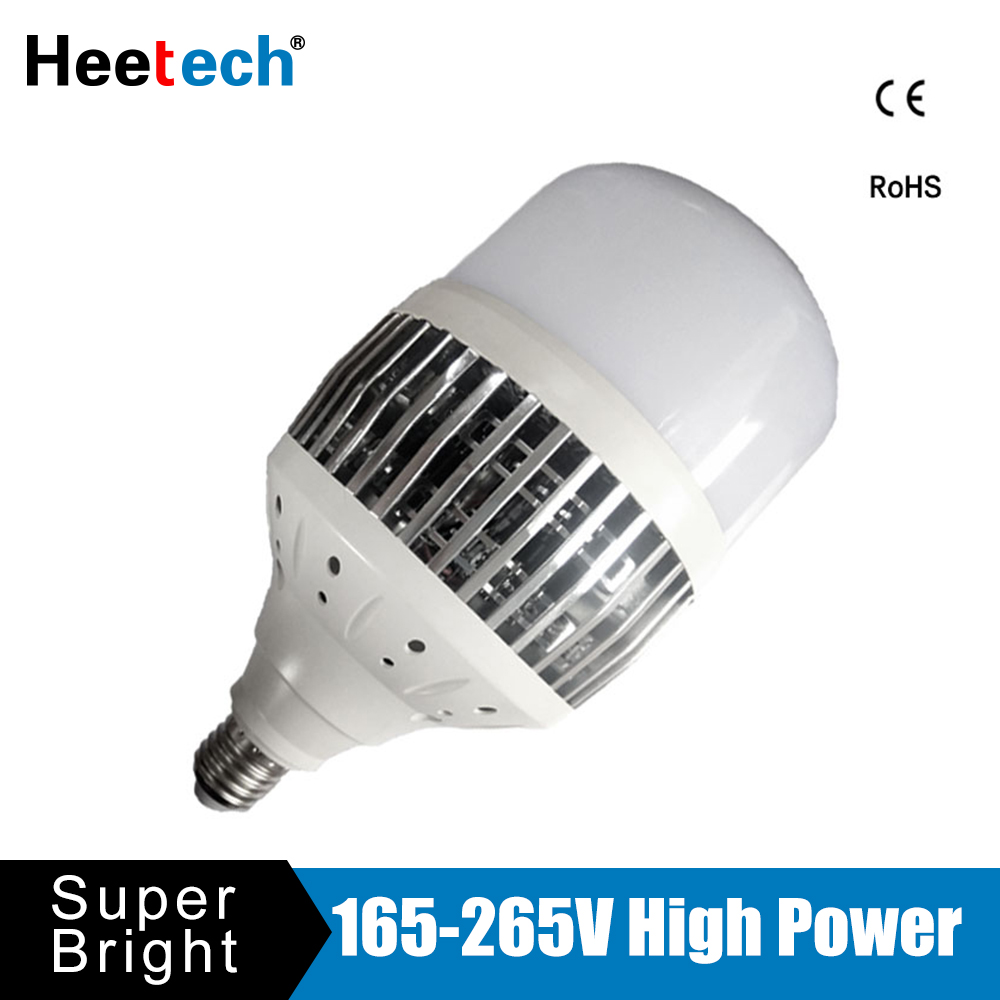 Ampoule de lumière LED de puissance élevée E27 E40 Ampoule Bombilla 50 W 80 W 100 W 150 W 220 V 230 V lampe à LED pour l'entrepôt d'atelier d'usine