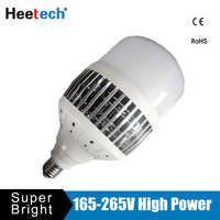 Luz de bombilla LED para lámpara 150W 100W 80W 50W E27 E40 220V 230V lámpara brillante Lámpara ampolla Bombillas almacén fábrica cuadrado