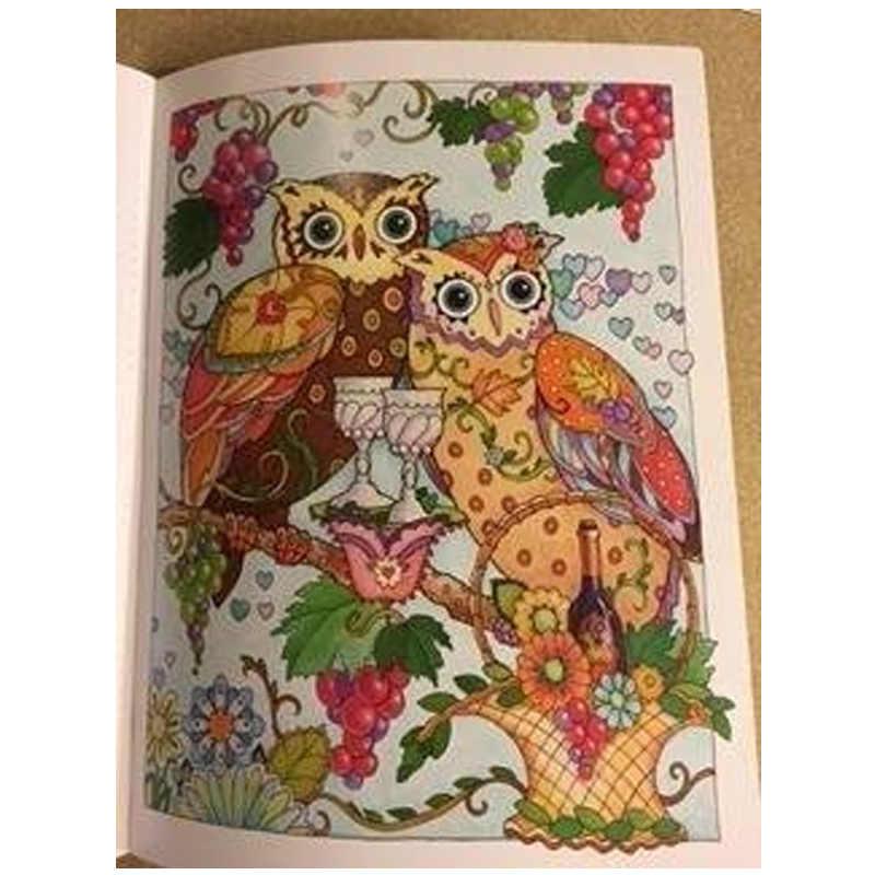 68 Halaman Burung Hantu Antistress Buku Mewarnai Untuk Orang
