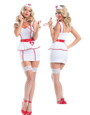 Nurse Costume Women Halloween Fancy Party Dress Carnival Sexy Cosplay Multiple sleeve Outfits 80784