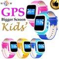 Atualizado Criança GPS Relógio Inteligente relógio de Pulso Do Bebê Dispositivo de Chamada SOS Localizador Localizador Monitor de Rastreador Para O Miúdo Seguro Anti Perdido