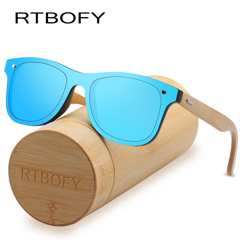 RTBOFY Legno Occhiali Da Sole per Le Donne & Uomini Bamboo Frame Occhiali Occhiali In Legno Fatti A Mano, con Trasporto di Bambù Cassa del Regalo