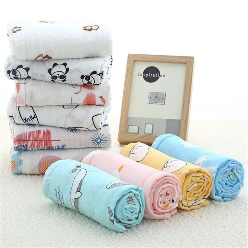 100% Cotton Super Soft Muslin Baby Swaddles Newborn Blankets Baby Bath Towel Infant Wrap Sleepsack Soft Baby Swaddle Blanket