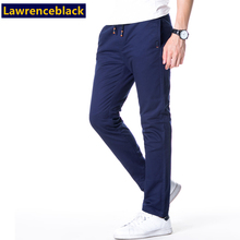 Casual Pants Men Solid Fashion Quality Brand Pants Slim Fit Male Trousers New Design Cotton Elastic Pantalon Homme Plus Size 87