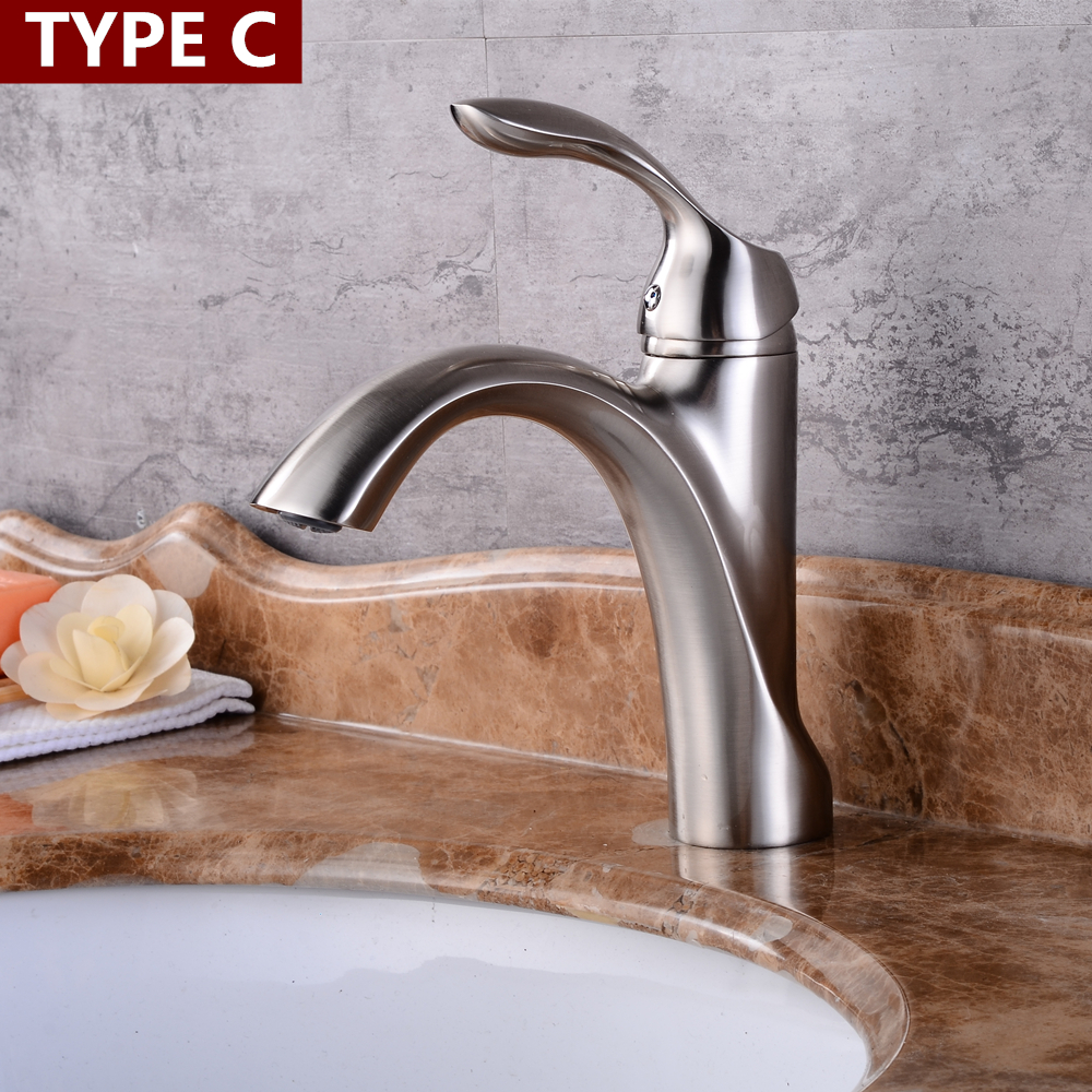 Best Bathroom Basin Sink Faucet Single Handle Kitchen Tap hot and cold water Basin Faucet Kitchen Faucet Torneiras Mci1