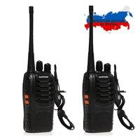 2x Baofeng BF 888S UHF 400 470 MHz 5W CTCSS Two Way Ham Radio 16CH Walkie