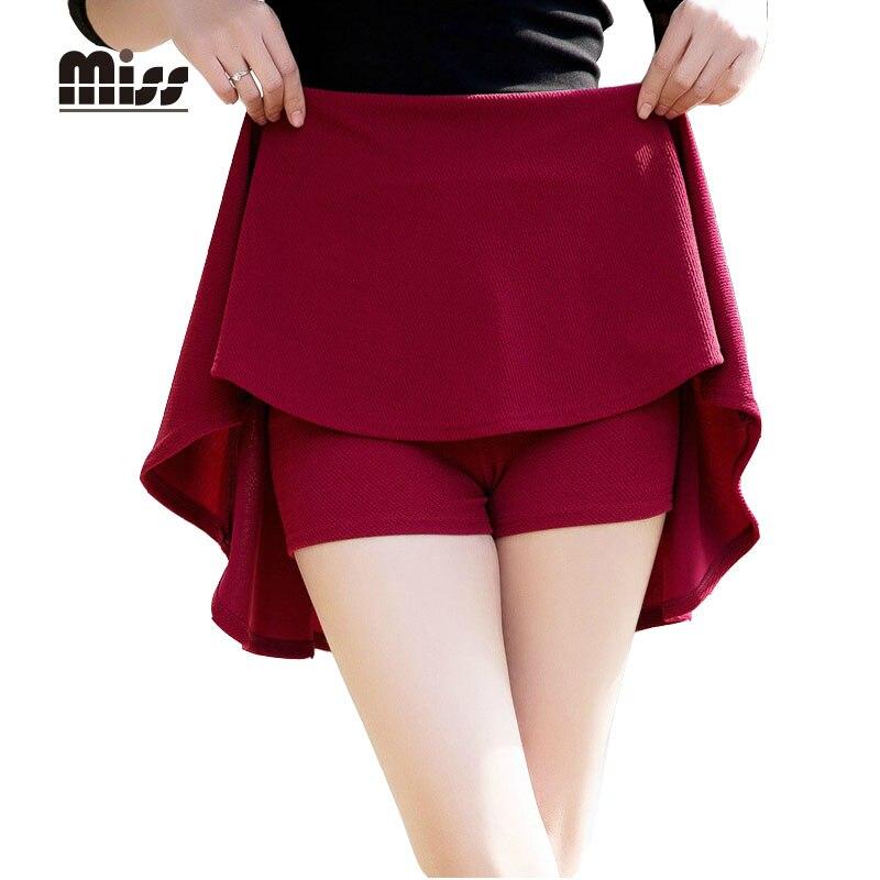 MISS 2016 High Waist Pleated Short School Skirt For Women Sundress Tutu Skirt White Back Mini
