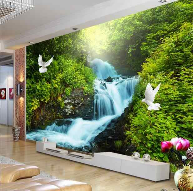 Three-dimensional relief photo wallpapers beautiful peacock for Living room bedroom hotel Kid room background mural wallpaper