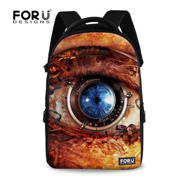 ФОТО 2017 hot sale teenager big eyes backpack larger capacity school backpacks for boys canvas school laptop bags children rucksack