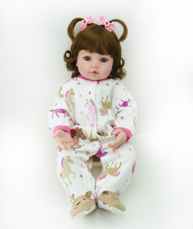 22inch reborn silicone vinyl children 55cm curly hair princess toddlers doll bonecas kids birthday gifts play house toy for sale22inch reborn silicone vinyl children 55cm curly hair princess toddlers doll bonecas kids birthday gifts play house toy for sale