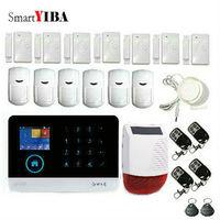 SmartYIBA GSM GPRS WIFI Inglês França Comutável cartão RFID Braço Desarmar APP sistema de Alarme de Segurança Sem Fio Em Casa Controle Remoto