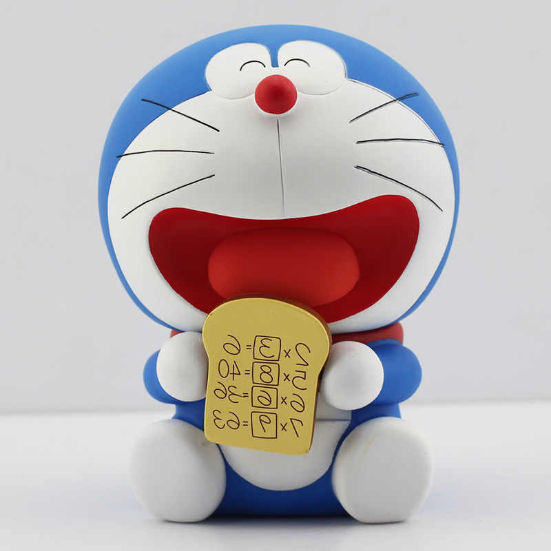 14cm Anime Cartoon Doraemon With Memory Bread PVC Action Figure Toy Doll For Children With Box
