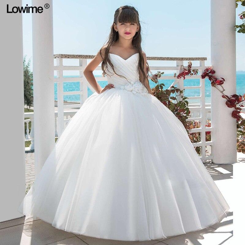 Ball Gown Sweetheart   Flower     Girl     Dresses   For Weddings Sleeveless   Flower   Pleat First Communion   Dress   For   Girls   2018