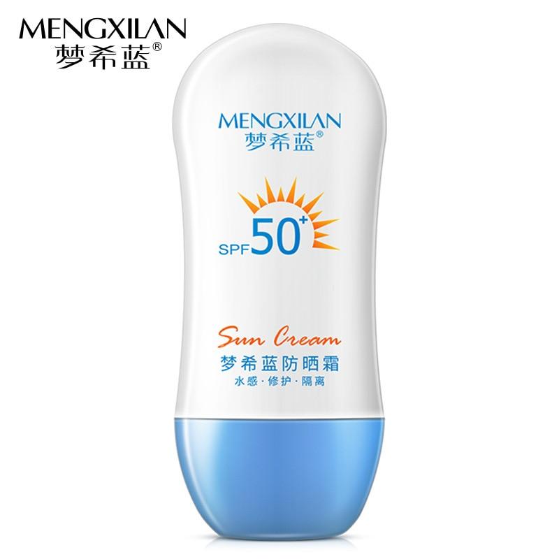 MENGXILAN Facial Sunscreen Creams Sun Lotion Tanning Oil SPF 50 Isolation UV Sunblock Body Sunscreen Concealer