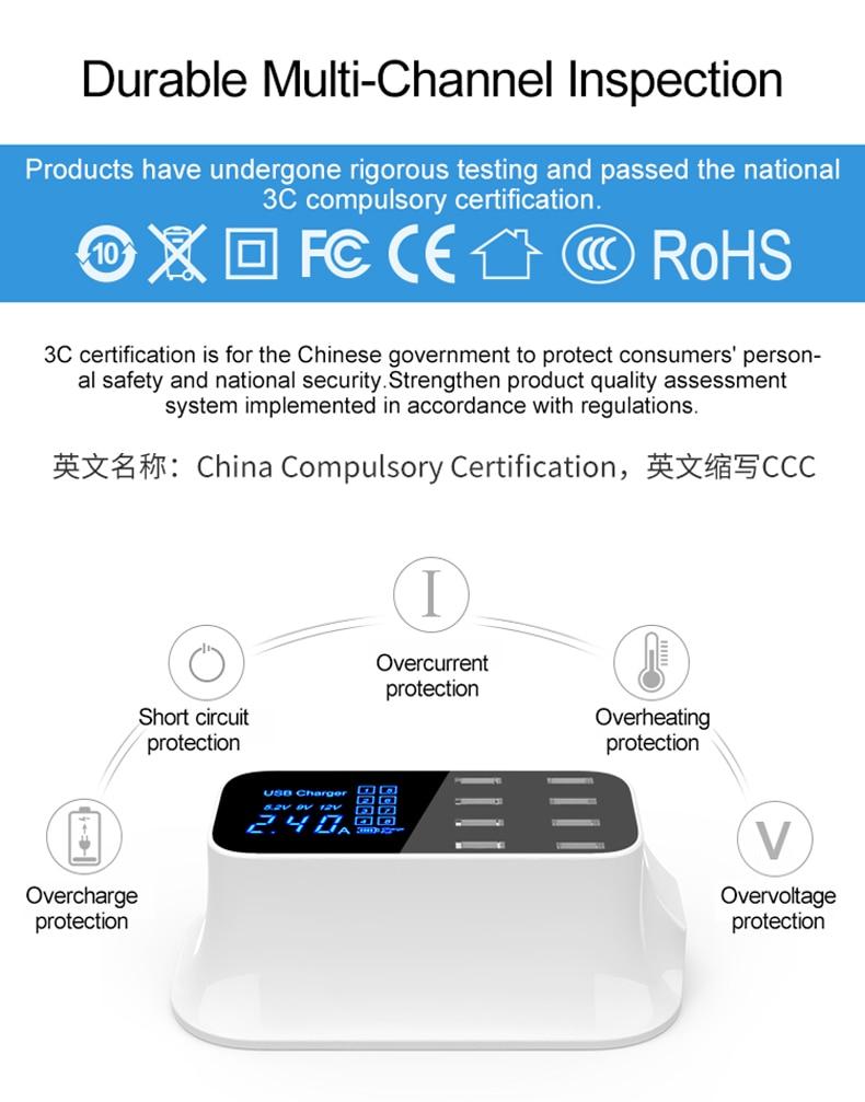 Universal 8 Ports Smart USB Charger Station Hub Led Display charger (10)