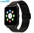 Gt12 langtek smart watch reloj soporte de sincronización notificador tarjeta sim conectividad bluetooth para android apple iphone teléfono smartwatch