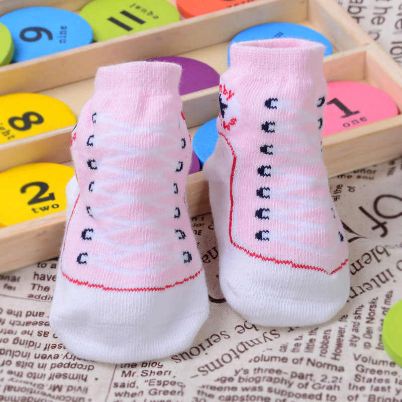 1 Pair Autumn Winter Infant Cotton Socks Soft Non-slip Newborn 0-12 Months Baby Boys Girls Sock YS-BUY